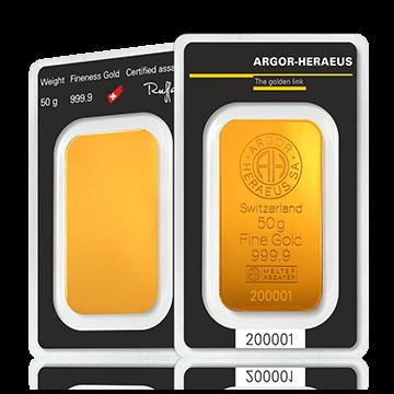 Kuldplaat 50 g