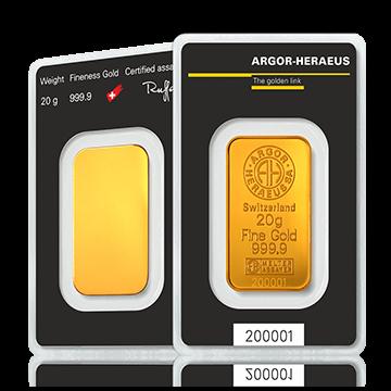 Kuldplaat 20 g