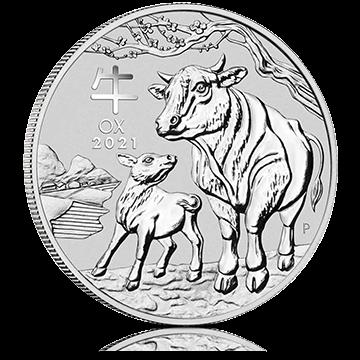 Hõbemünt Lunar 2021 pühvliaasta 31,1 g (1 oz)